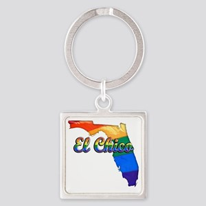 El Chico Square Keychain