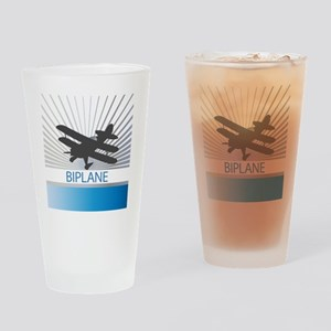 Aircraft Biplane Drinking Glass