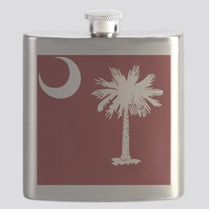 South Carolina Palmetto State Flag Flask