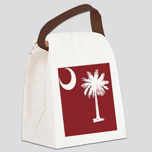 South Carolina Palmetto State Fla Canvas Lunch Bag
