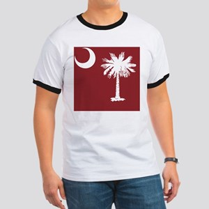 South Carolina Palmetto State Flag Ringer T