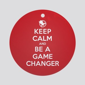 Keep Calm Be a Game Changer Ornament (Round)