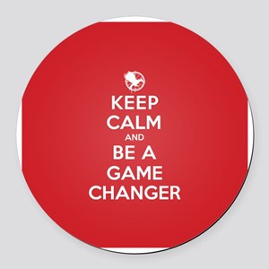 Keep Calm Be a Game Changer Round Car Magnet