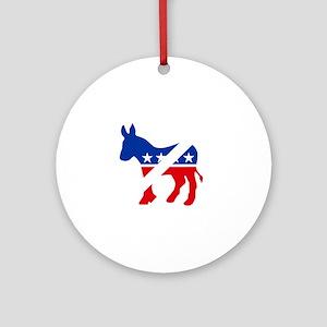 Down with donkey2w Round Ornament
