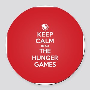 Keep Calm Read The Hunger Games Round Car Magnet