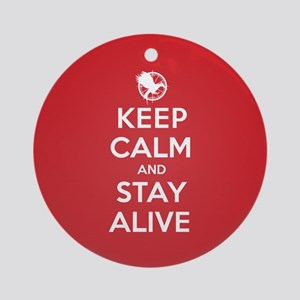 Keep Calm Stay Alive Ornament (Round)