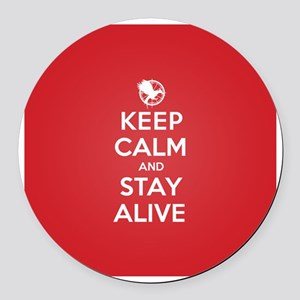Keep Calm Stay Alive Round Car Magnet