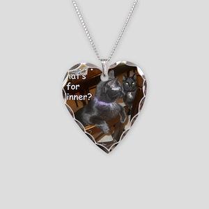 WhatDinnerAudreyStar Necklace Heart Charm