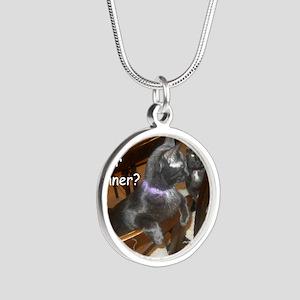 WhatDinnerAudreyStar Silver Round Necklace
