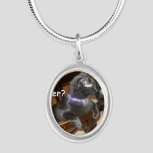 WhatDinnerAudreyStar Silver Oval Necklace