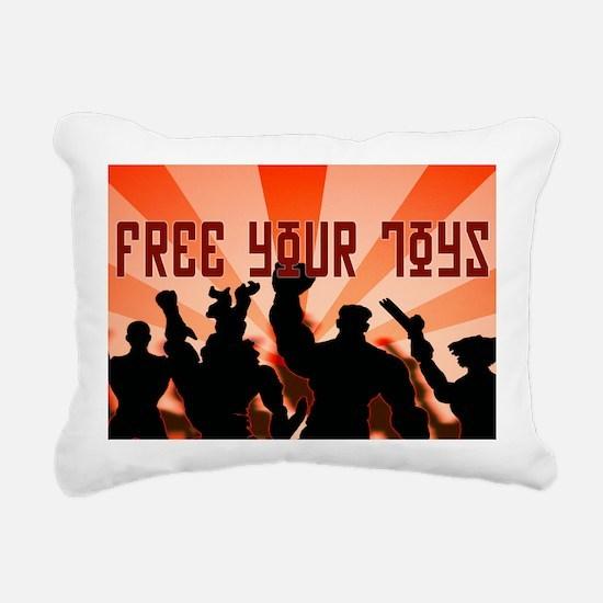 freeyourtoyshat3 Rectangular Canvas Pillow