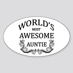 World's Most Awesome Auntie Sticker (Oval)