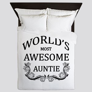 World's Most Awesome Auntie Queen Duvet