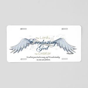 Isaiah 40-28 Aluminum License Plate