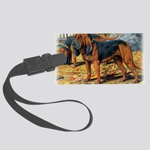 bloodhound by fuertes Large Luggage Tag