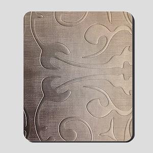 pearl grey damask pattern Mousepad