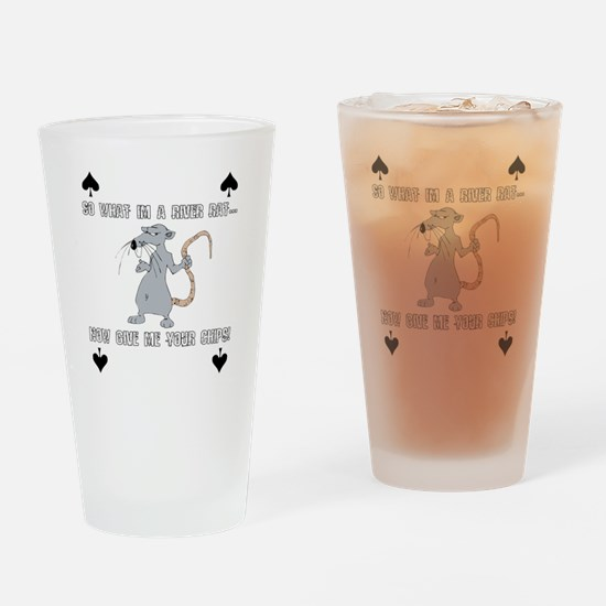 river rat Drinking Glass