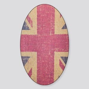 vintage UK flag fashion  Sticker (Oval)