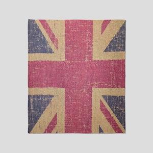 vintage UK flag fashion  Throw Blanket