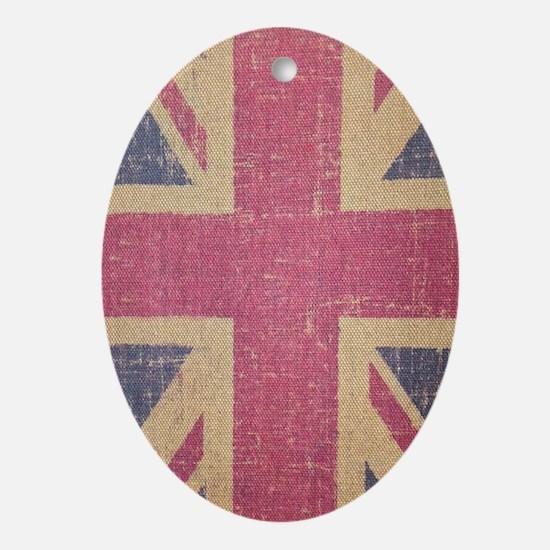 vintage UK flag fashion  Oval Ornament