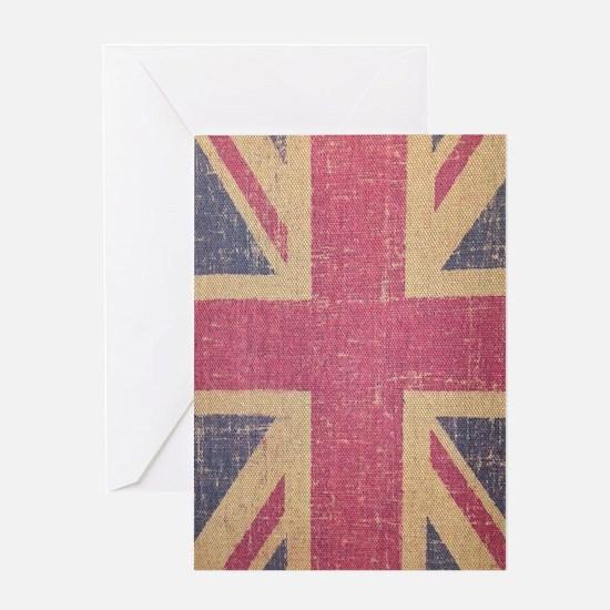 vintage UK flag fashion  Greeting Card