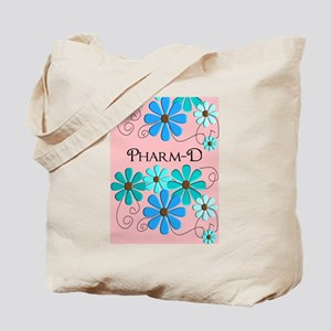 PharmD retro Flowers 2 Tote Bag