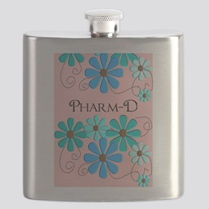 PharmD retro Flowers 2 Flask