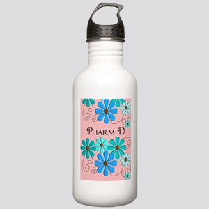 PharmD retro Flowers 2 Water Bottle