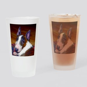 bullterrier-sq Drinking Glass