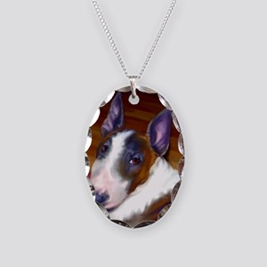 bullterrier-sq Necklace Oval Charm