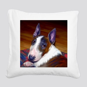 bullterrier-sq Square Canvas Pillow