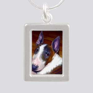 bullterrier-sq Silver Portrait Necklace