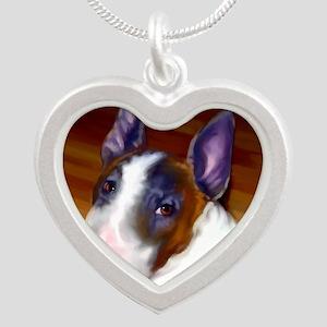 bullterrier-sq Silver Heart Necklace