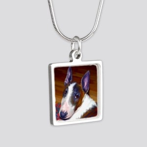 bullterrier-sq Silver Square Necklace