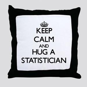 Keep Calm and Hug a Statistician Throw Pillow