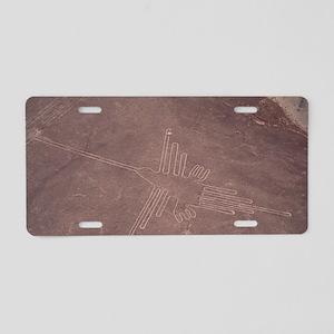 Nazca lines Aluminum License Plate