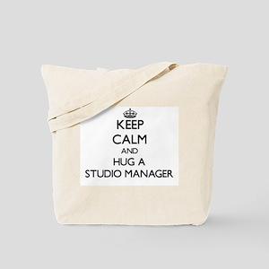 Keep Calm and Hug a Studio Manager Tote Bag