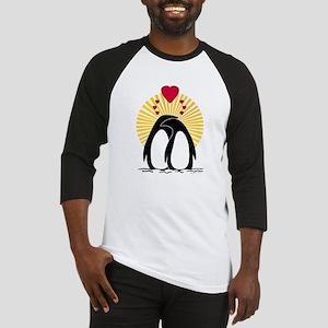 Loving Penguins (sunburst) Baseball Jersey