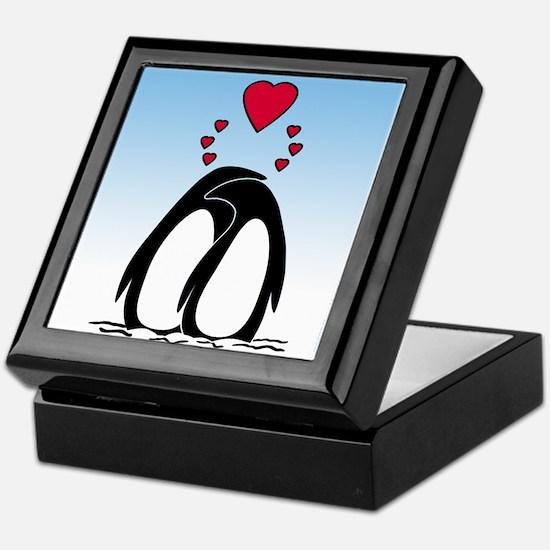 Loving Penguins Keepsake Box