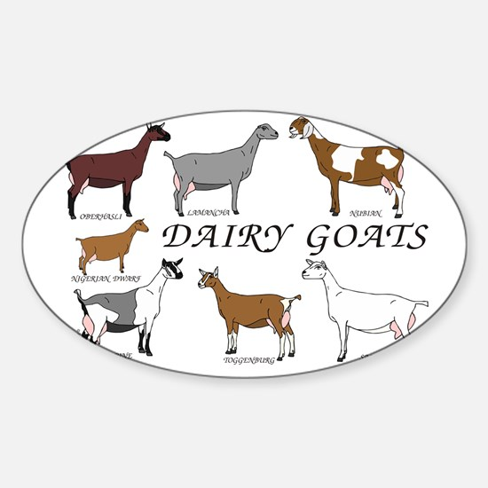 ALLDairyDoes Sticker (Oval)