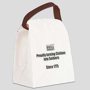 Drill Sergeants job Canvas Lunch Bag