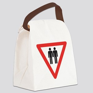 Give way to gay Canvas Lunch Bag