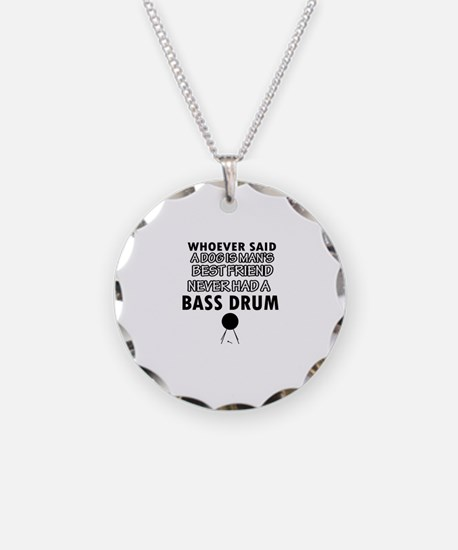 Cool bass drum designs Necklace Circle Charm