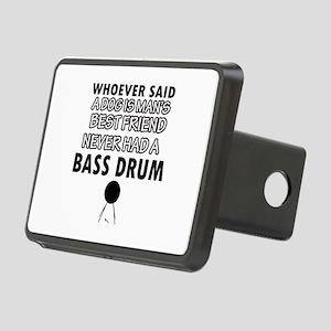 Cool bass drum designs Rectangular Hitch Cover