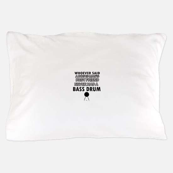 Cool bass drum designs Pillow Case