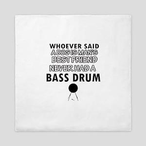 Cool bass drum designs Queen Duvet