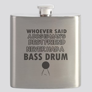 Cool bass drum designs Flask