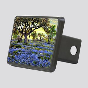 Old Live Oak Tree and Blue Rectangular Hitch Cover