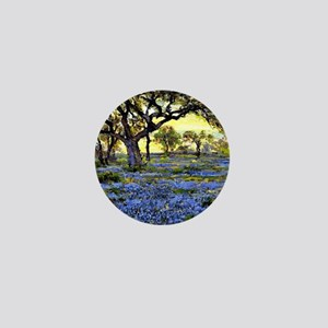 Old Live Oak Tree and Bluebonnets Mini Button