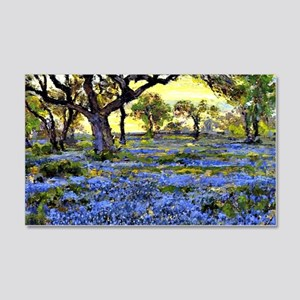 Old Live Oak Tree and Bluebonnets 20x12 Wall Decal